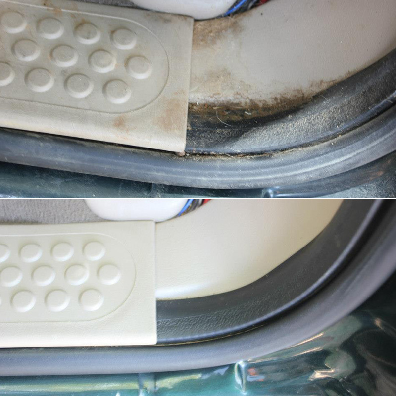 Before & After images of EcoGreen Detail Services on interior.