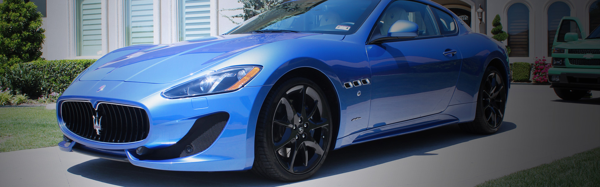 Picture of a Maserati Gran Turismo in EcoGreen's rotating banner