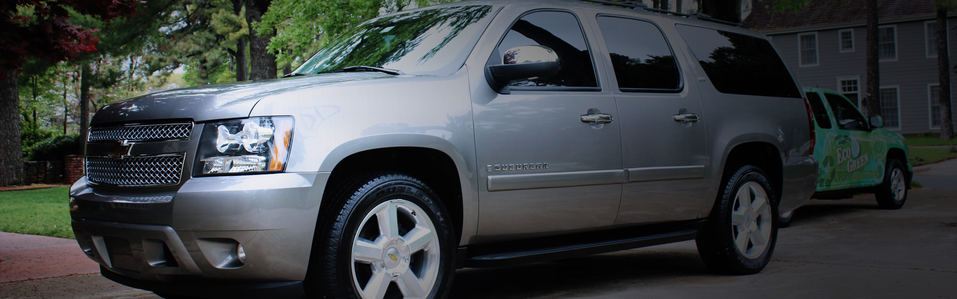 Picture of a Chevy Suburban in EcoGreen's rotating banner